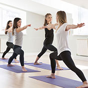 Public yoga and mindfulness classes